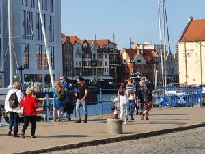 Gdansk is really busy especially on a sunny day.