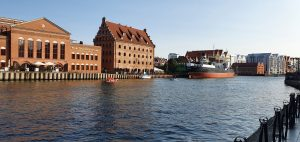 Fantastic buildings aroun the docks in Gdansk