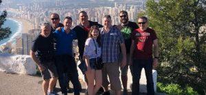 Group photo up at cross