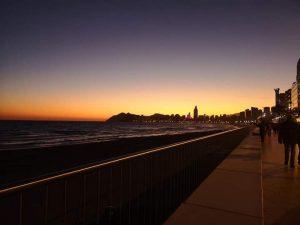 Sunset over Benidorm