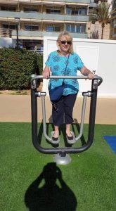 Kim keeping fit