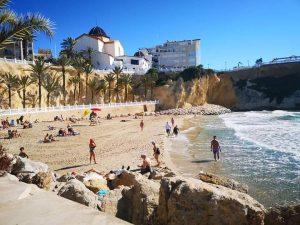 Feb bathers on the beach